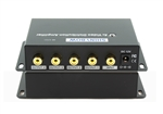 1x4 (1:4) 4-Way Composite RCA Video Splitter Distribution Amplifier SB-3701RCA
