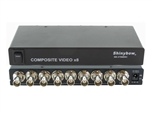 1x8 (1:8) 8-Way Composite BNC Video Splitter Distribution Amplifier SB-3706BNC