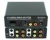 1x4 (1:4) 4-Way S-Video + Stereo Analog R/L Audio Splitter Amplifier SB-3716