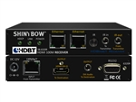 Shinybow HDMI (DVI+Audio) HDBaseT CAT5/6/7 Extender Receiver 330ft with Dual LAN/Ethernet, 2-way IR, RS232 SB-6320R
