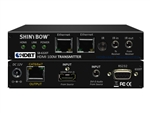 Shinybow HDMI (DVI + Audio) HDBaseT CAT5/6/7 Extender Transmitter with Dual LAN/Ethernet, 2-way IR, RS232 SB-6320T