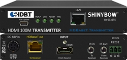 Shinybow HDMI 4K2K UHD HDBaseT CAT5/6/7 Extender Transmitter up to 330ft POH/POE with LAN, 2-way IR, RS232 SB-6335T5
